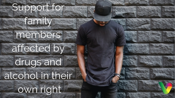 Support for family members affected by drugs and alcohol in their own right